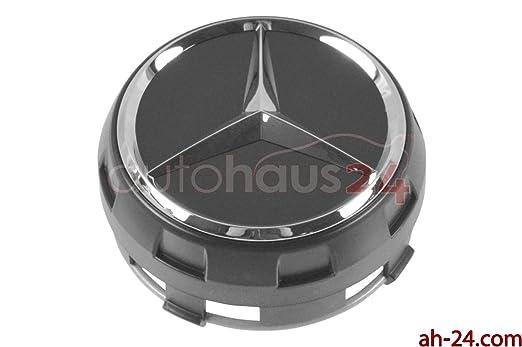 Amazon.com: MERCEDES 0004000900 RAISED BLACK CENTER CAP W/CHROME STAR OEM GENUINE: Automotive