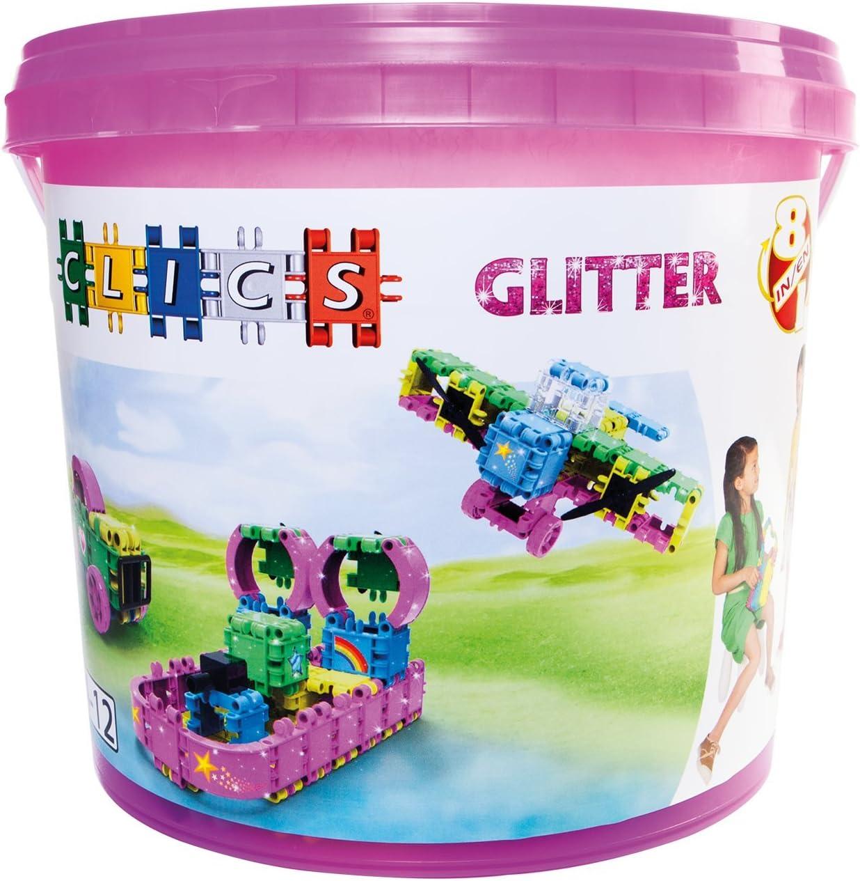 Clics CB1808-in-1Baril Glitter Juego de construcción de
