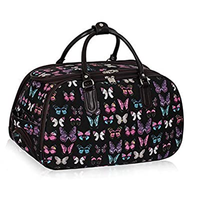 Amazon.com: Ladies Travel Holdall Bags Hand Luggage Womens ...