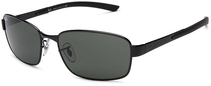 f56fdb8d5e8 Amazon.com  Ray-Ban RB3413 - BLACK Frame CRYSTAL GREEN Lenses 59mm Non- Polarized  Clothing