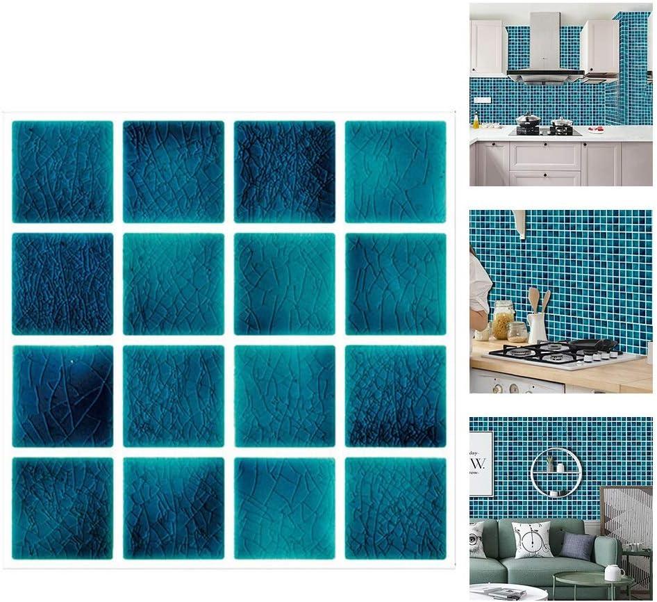 WUYANSE 10 pegatinas para azulejos autoadhesivas, diagonales, autoadhesivas, para decoraci/ón del hogar
