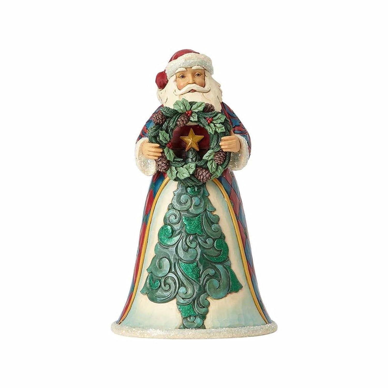 Jim Shore for Enesco Heartwood Creek Wreath Santa Figurine