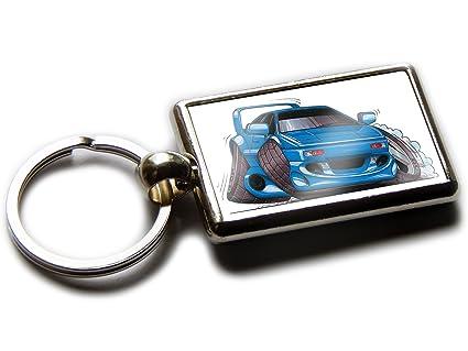 Koolart Cartoon Car Lotus Esprit Turbo Chrome Keyring Picture Both Sides (Blue)