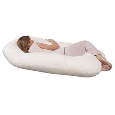 Leachco Back 'N Belly Contoured Body Pillow, Ivory review