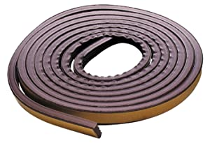 M-D Building Products 2550 M-D 0 All Climate P-Profile Subzero Weather-Strip, 17 Ft L X 3/8 in W 7/32 in T, Epdm Rubber, Brown