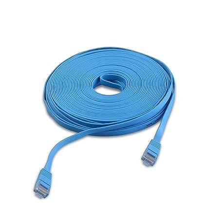 ANRAN 15M Ethernet RJ45 Cable Flat UTP 10/100/1000Mbps Ethernet Network Cable Network