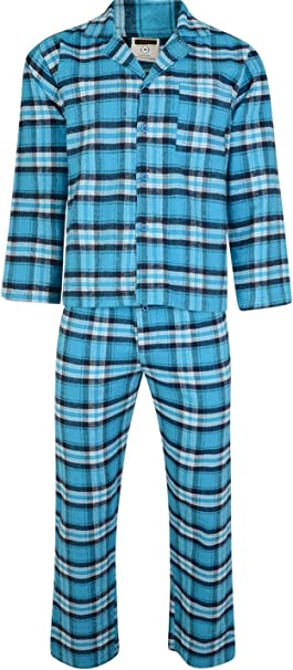 i-smalls Men/'s Traditional Flannel Soft Cotton Pyjama Set