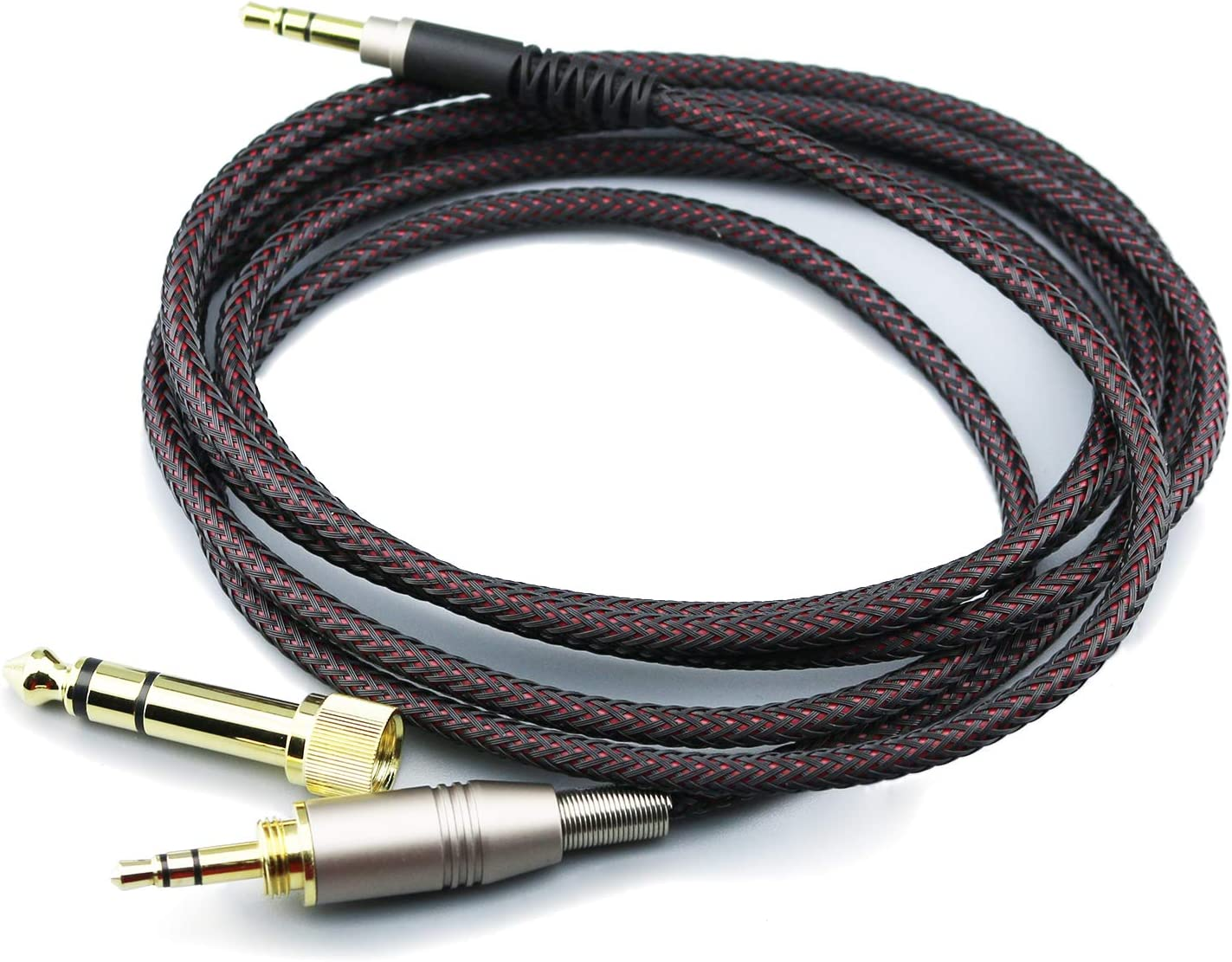 NewFantasia Replacement Audio Upgrade Cable Compatible with Audio-Technica ATH-M50xBT, ATH-AR3BTBK, ATH-SR50BT, ATH-ANC9, ATH-ANC7B, ATH-SR5BTBK, ATH-S700BT Headphones 1.5meters/4.9ft