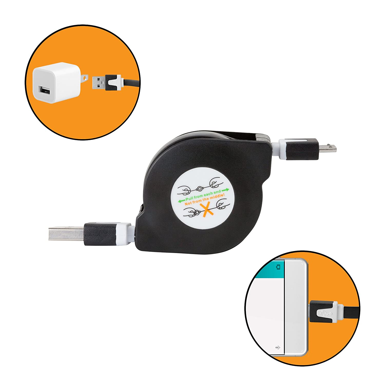 Portable Sync Cable for Alcor Comet Q789L miniSync Retractable BoxWave Alcor Comet Q789L Cable,