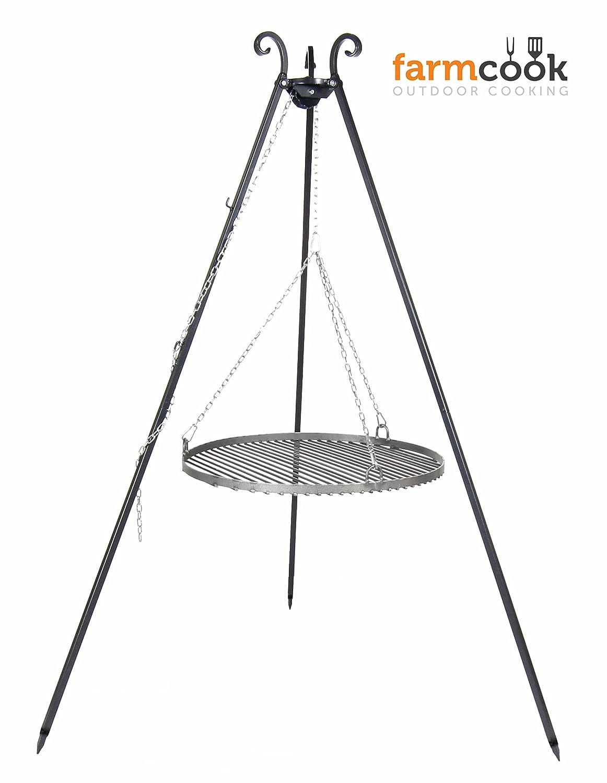 Schwenkgrill VIKING Dreibein mit Rost aus Rohstahl (Ø 70 cm)