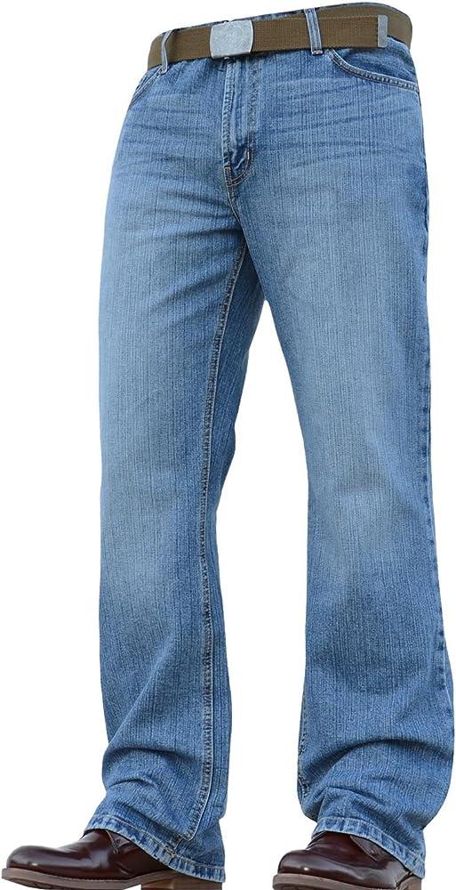 Pantalones vaqueros Acampanados para hombre, corte de bota