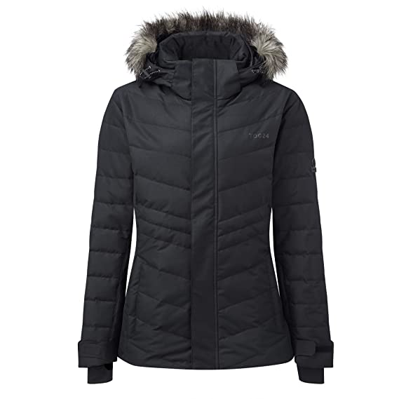 69c95c34418 Tog24 Kirby Womens Ski Jacket Down Filled Faux Fur Hooded Extremely Warm Ladies  Coat: Amazon.co.uk: Clothing