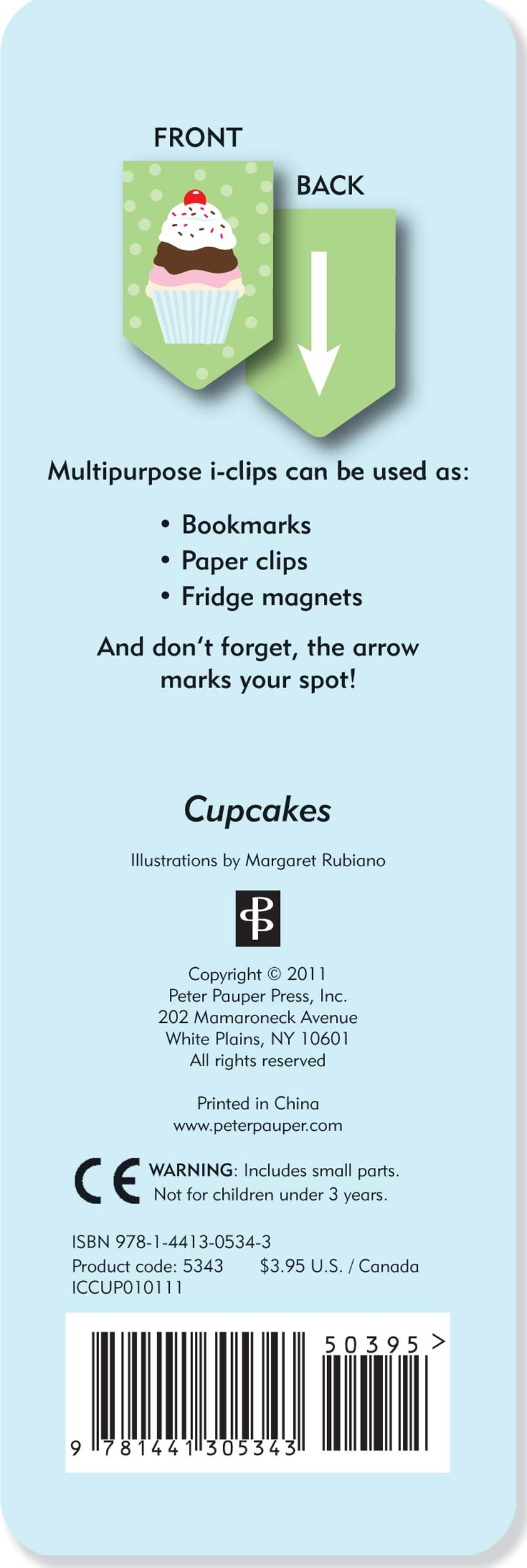 Cupcake i-clips Magnetic Bookmarks by Peter Pauper Press (Image #2)