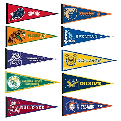 Amazoncom Hbcu College Pennant Set Sports Related Pennants