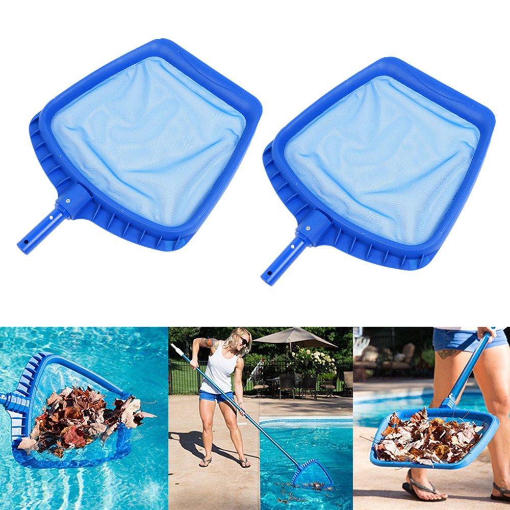 2PCS/set Heavy Duty Swimming Pool Leaf Skimmer Net with Handle Rake Leaf Mesh Skimmer Cleaner Swimming Pool Spa Tool - 16.5 by 15.7 Inch Gessppo by Gessppo_Sports & Fitness (Image #1)