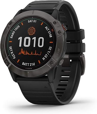 Garmin - Reloj GPS con Pulsómetro Fenix 6X Pro Solar Garmin: Amazon.es: Electrónica