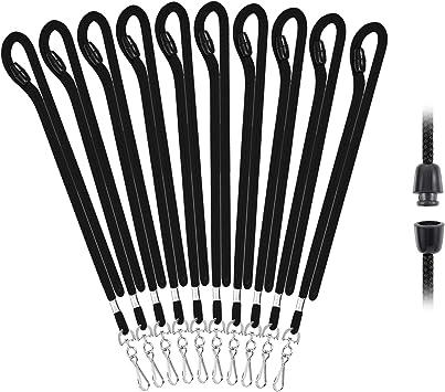 Black Cloth 36-inch Lanyard Metal Clip ID Badge Holder