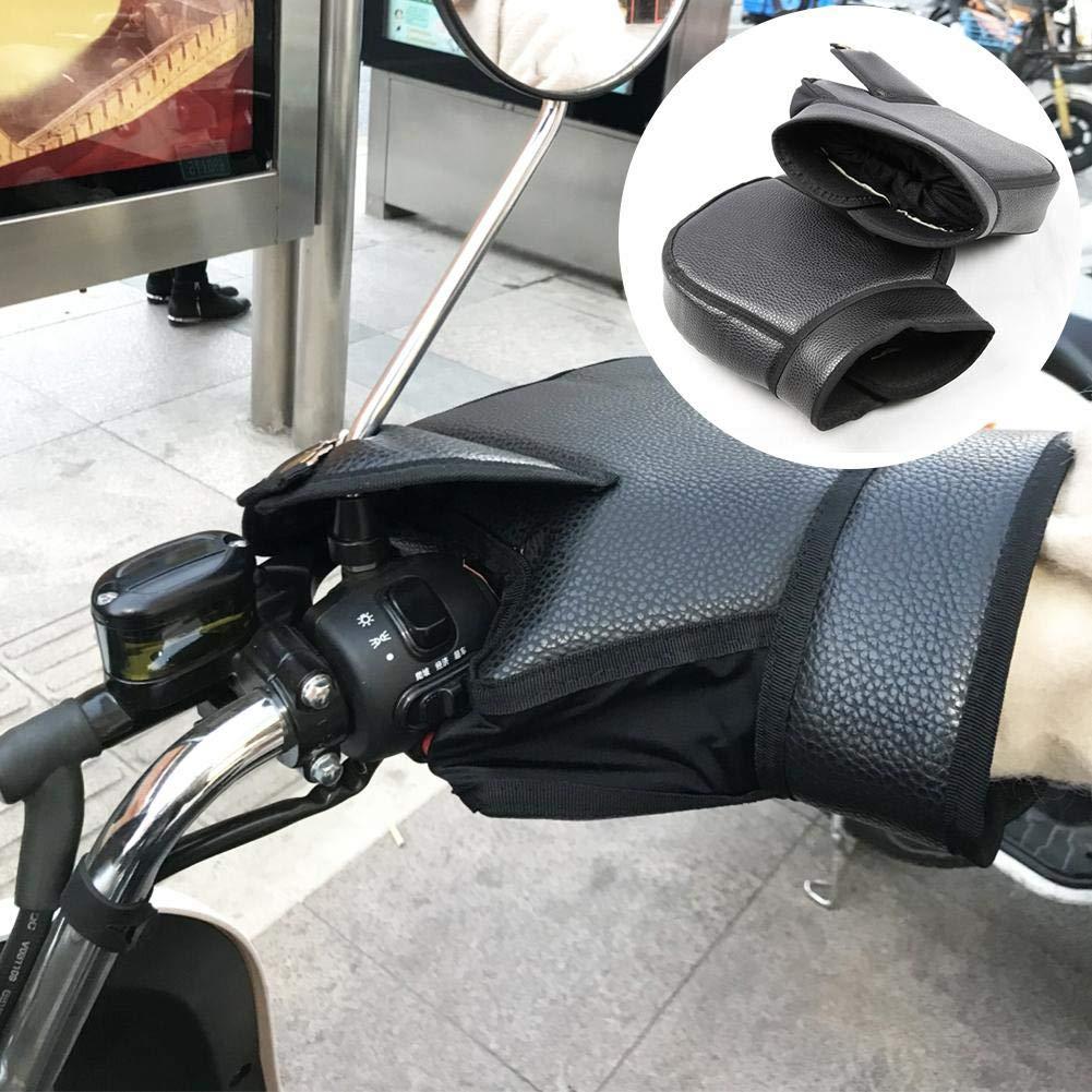 Bloomma Guanti da Manubrio per Moto Coprimanopole Guanti da Manubrio con Strisce Reflex Notturne Antivento Impermeabile Guanto da Bar per Scooter Antivento Inverno pi/ù Caldo per Moto Scooter Bici