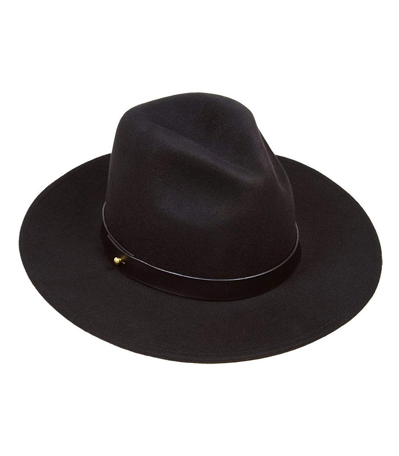 Lack of Color Women's The Prism Tall Luxe Wool Fedora (Black/Black, MD (57cm))
