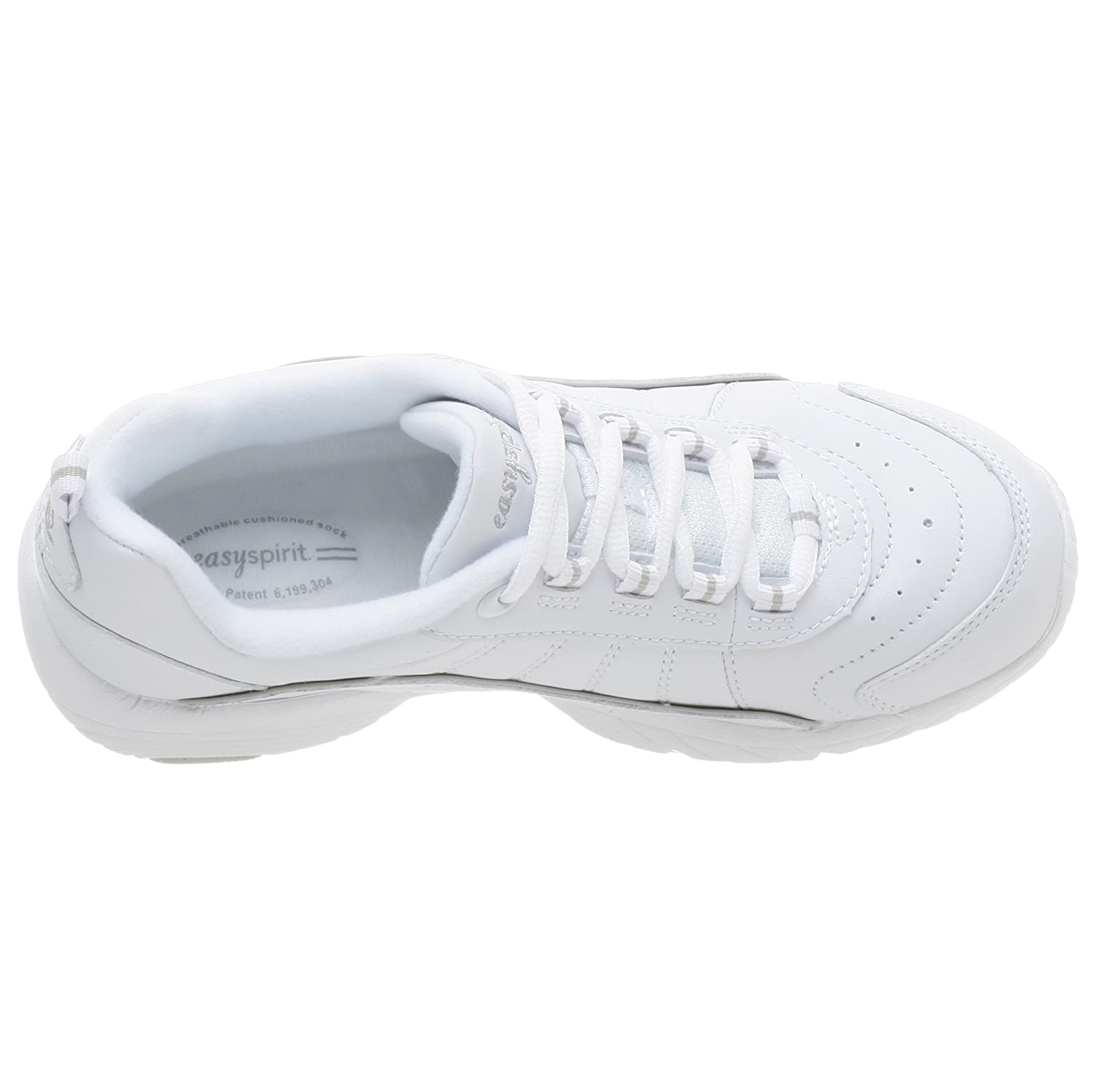 Easy Spirit Women's Punter Athletic Shoe B000Q92OXG 7 B(M) US|White/Light Grey