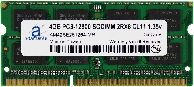 Adamanta 4GB (1x4GB) Laptop Memory Upgrade Compatible for Dell Alienware, Inspiron, Latitude, Optiplex, Precision, Vostro DDR3L 1600Mhz PC3L-12800 SODIMM 2Rx8 CL11 1.35v Notebook RAM P/N: SNPNWMX1C/4G