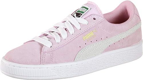 Mimar imán Aislar  Puma Suede Jr W Shoes Pink/White: Amazon.co.uk: Shoes & Bags