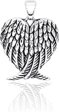 Colgante de Plata Esterlina Sólido 925 Alas de ángel guardián NUEVO hecho a mano