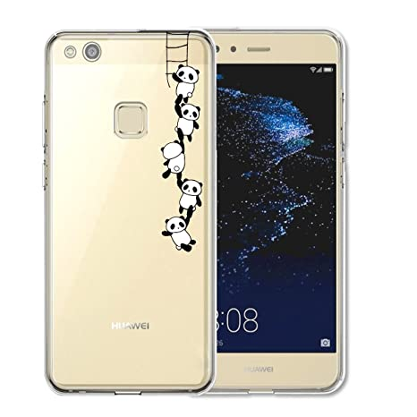 Tutuwen - Carcasa de silicona para Huawei P10 Lite, transparente, TPU, compatible con Huawei P10 Lite
