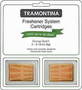 Tramontina Step Can Freshener System Odor Cartridges 2pk, 0.18 oz each (FRESH SKY, LEMON or ORANGE SCENTS) (Orange)