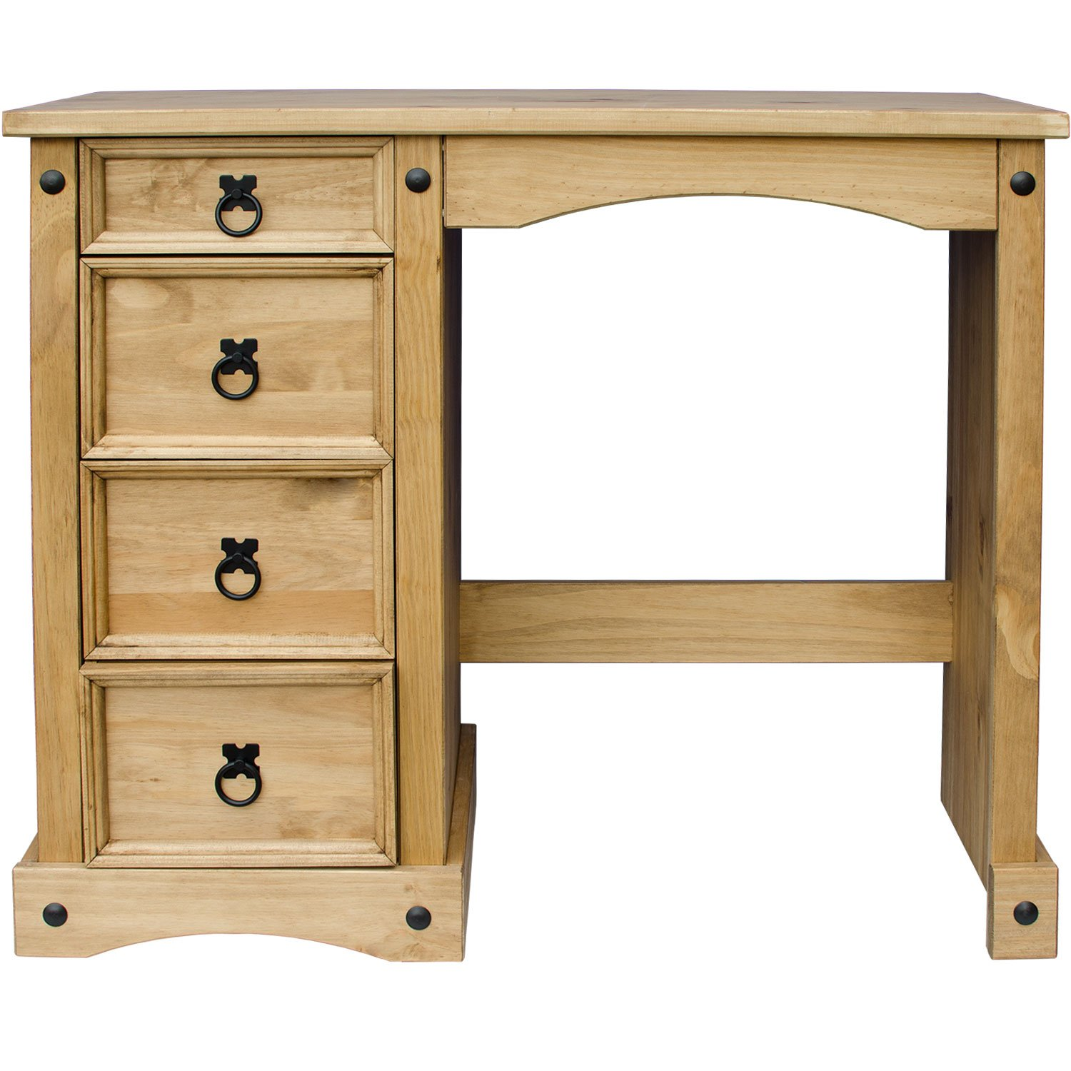 Pine Bedroom Stool Home Discount Corona Dressing Table 4 Drawer Solid Pine Wood