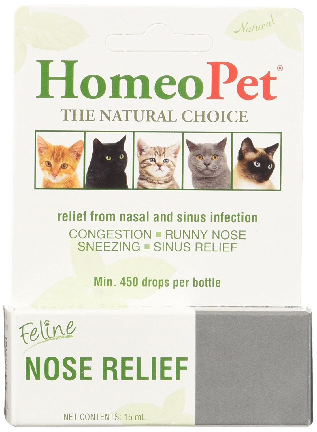 HomeoPet Feline Nose Natural Relief Nasal & Sinus Infection