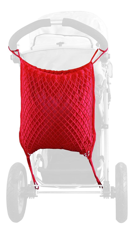 Sunnybaby 12176rete portaoggetti per passeggino per Jogging con protezione privacy, Rosso Sunnybaby GmbH