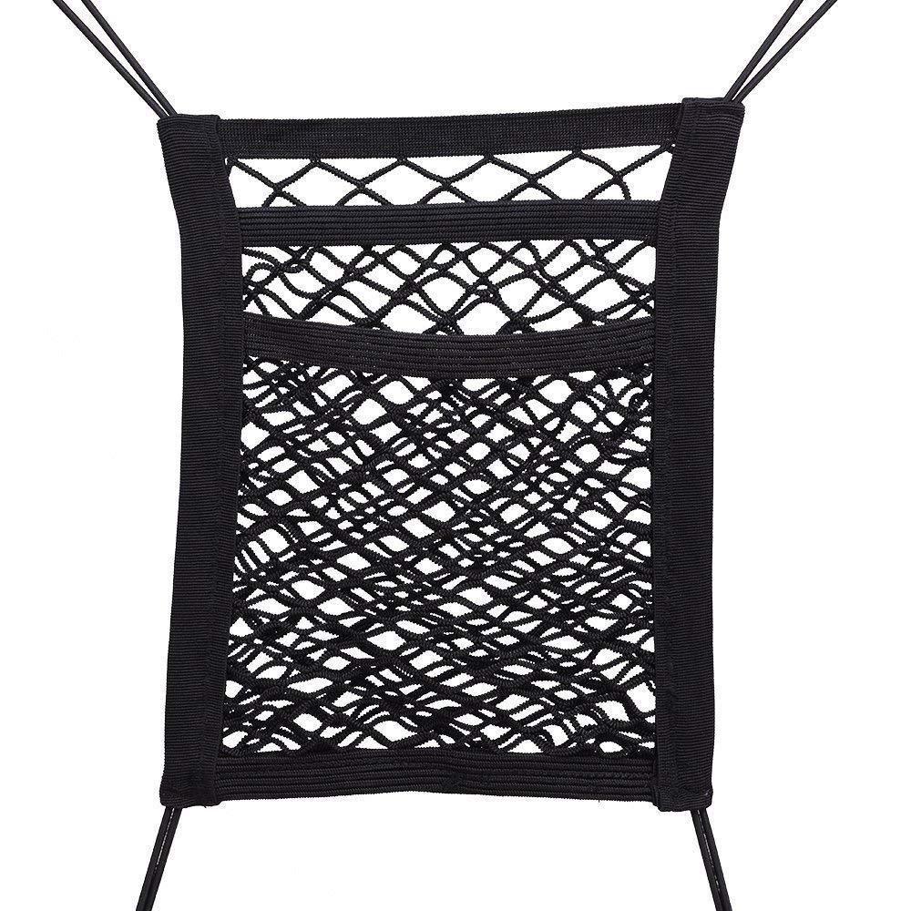 Ecloud Shop/® Asiento de Coche Organizador de Malla Elasticized Double Layers Asiento Back Net Bag Universal Hook Pouch Mascotas Ni/ños Molestar Tap/ón