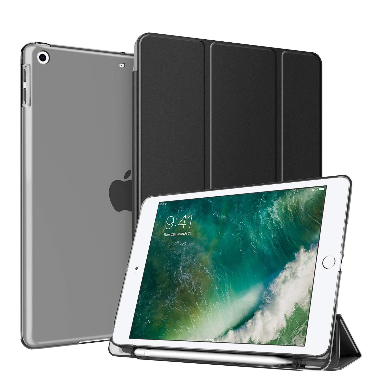 日本人気超絶の Fintie iPad 9.7インチ2018用内蔵鉛筆ホルダー付きケース - B07PSHR5F3 半透明つや消しバックプロテクター付き軽量スリムシェルカバー iPad iPad 第6世代用自動ウェイク iPad/スリープをサポート EPAE403US ブラック B07PSHR5F3, 家具館:a5551d3a --- a0267596.xsph.ru