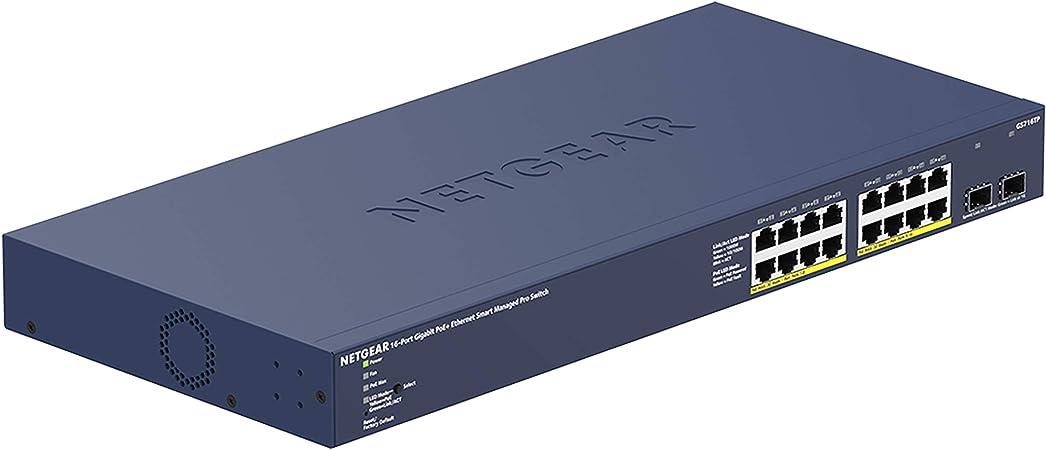 Netgear Gs716tp Switch 16 Port Gigabit Ethernet Lan Poe Computer Zubehör