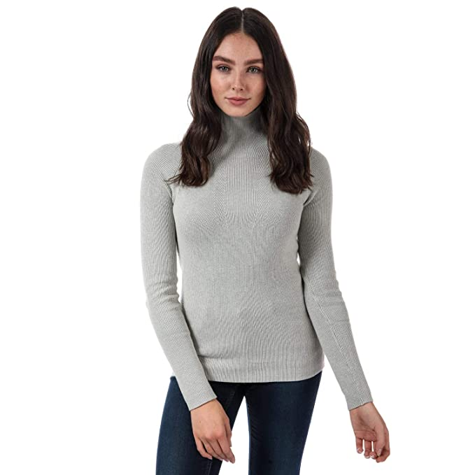 select for best 100% authenticated top brands Henri Lloyd Womens Womens Ada High Neck Jumper in Light Grey ...