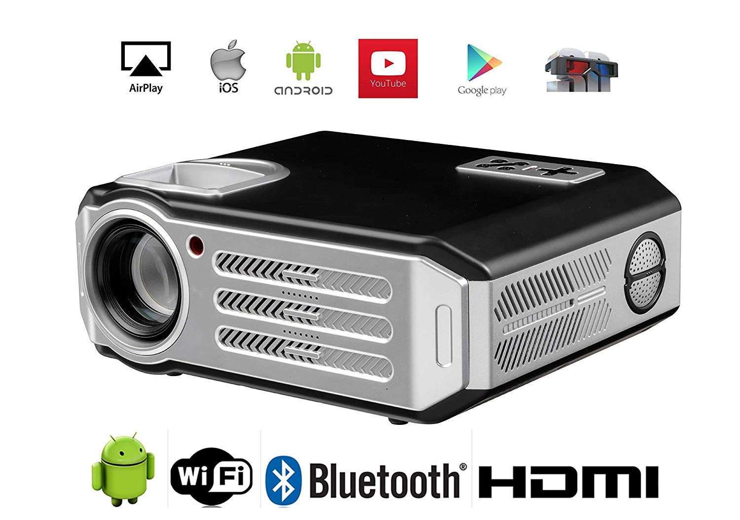 3D Projector 1080P WiFi Proyector HDMI videoproyector Full HD ...