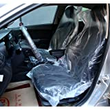 Emoyi Auto Disposable Clear Plastic Seat Covers Protector Mechanic Valet Pack Of 100