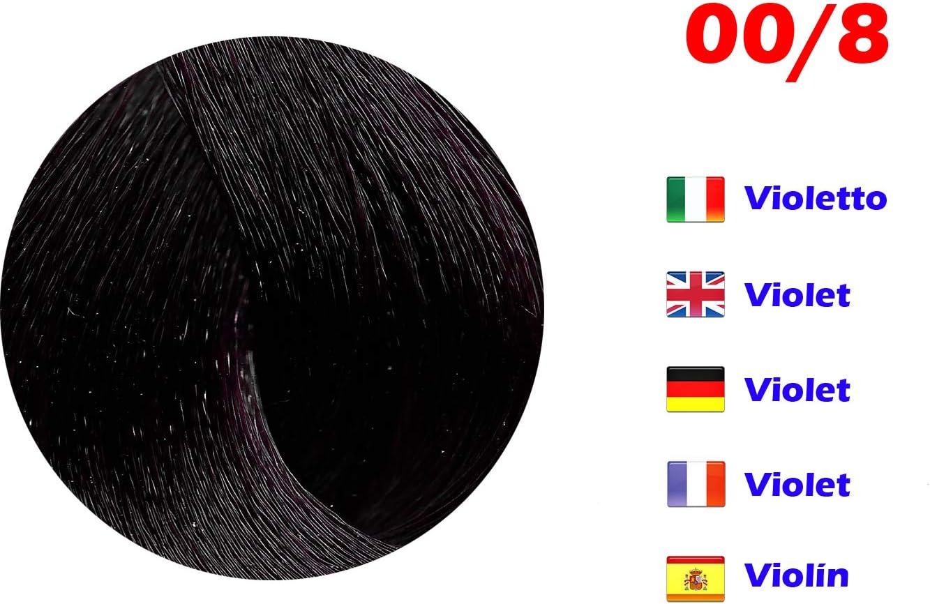 Tinte de Pelo Profesional Violín Extreme con Amoníaco 00/8 Permanente 100ml Made in Italy
