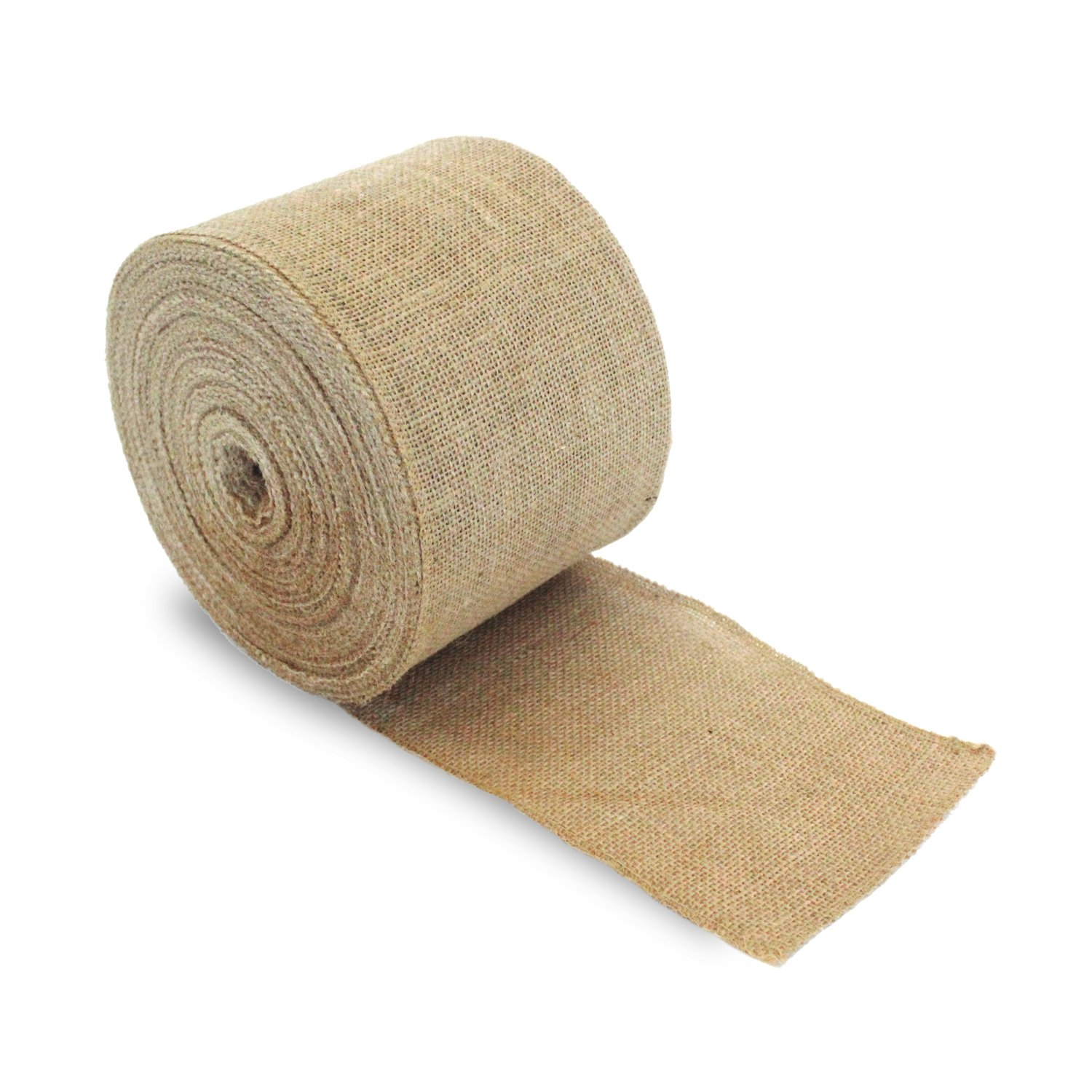 Craft Burlap Ribbon No Fray Edges 6 Inches by 50 Yards Wreath Ribbon by Burlap and Beyond
