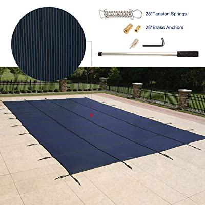 BEAMNOVA Pool Safety Cover for Inground Pools with Anchors Installation Kit, Rectangular, 20 x 40 Feet : Garden & Outdoor