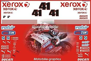 Ducati Xerox 2010 Wsb Haga Race Rep Decals Amazon Co Uk Car