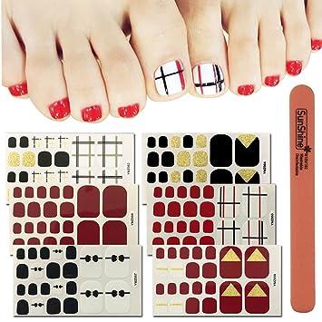 Amazon Wokoto 6 Sheets Toe Nail Art Adhesive Stickers And 1pc