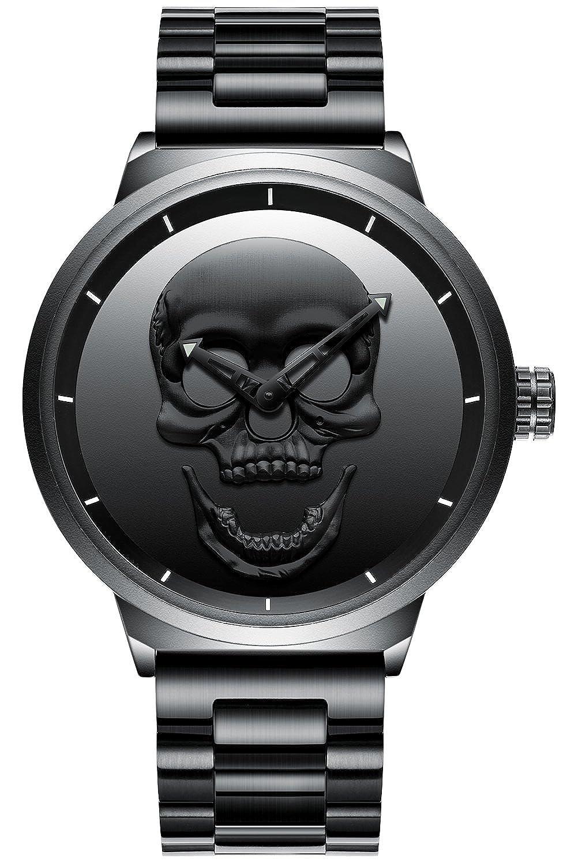 e3774bdc18f Mens Black Wrist Watches Men Waterproof Mesh Bracelet Large Face Watch  Stainless Steel Fashion Luxury Stylish Casual Analogue Quartz Designer  Wrist Watch ...