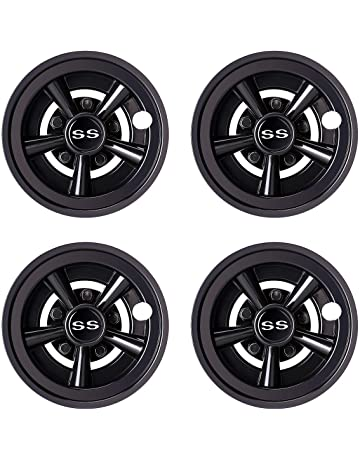 World 9.99 Mall Golf Cart SS Wheel Covers Hub Caps for Yamaha/Club CAR/