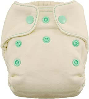 product image for Thirsties Snap Natural Newborn Bamboo Fitted Cloth Diaper, Moss