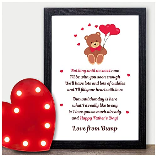 Fathers Day Gifts from Unborn Baby from the Bump Poem - Keepsake 1st