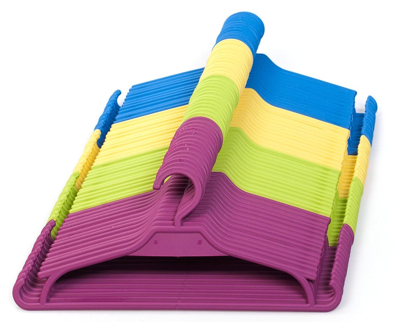 Gruccia per bambini, set da 25pezzi, per l'armadio dei bambini, colore: giallo KIK