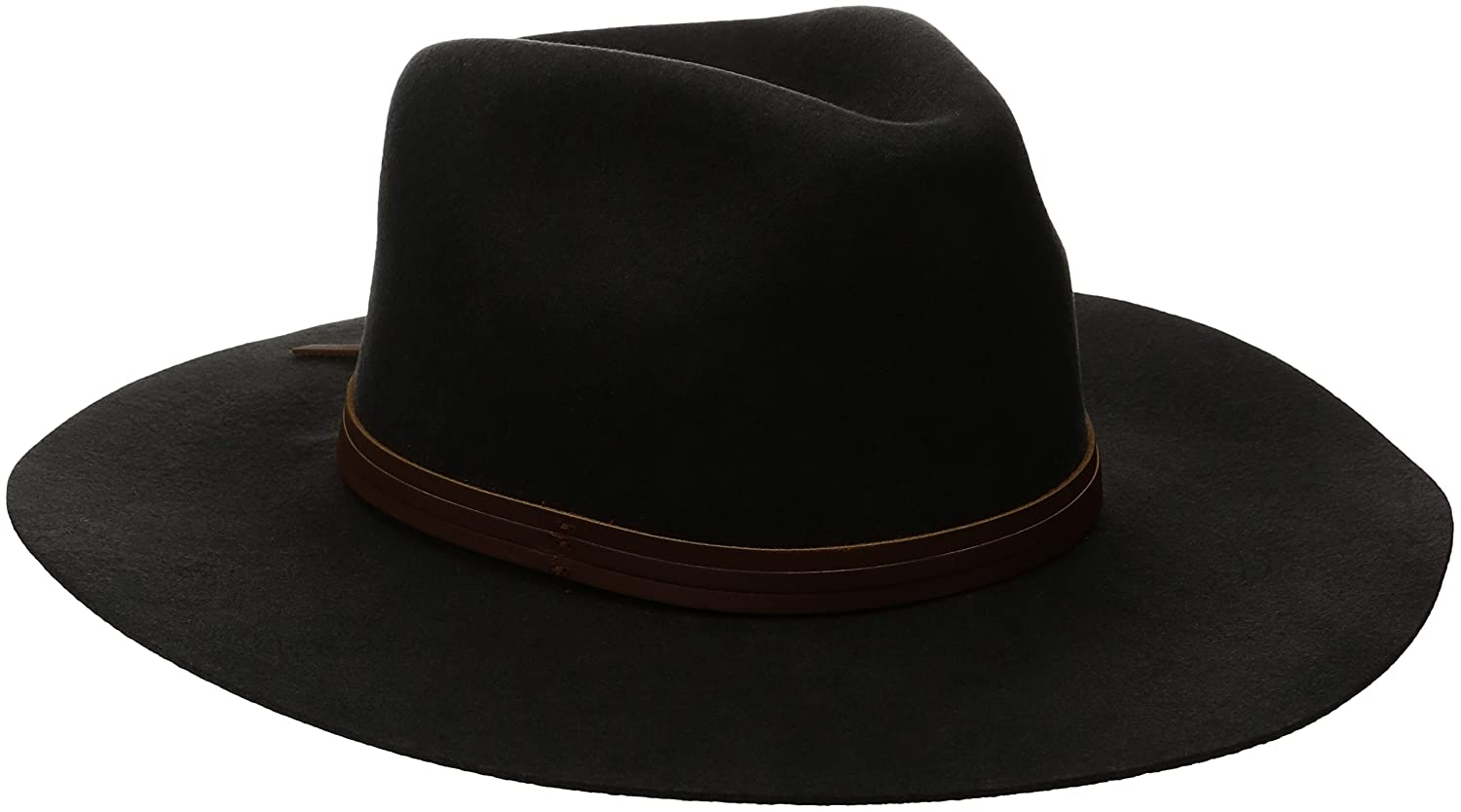 Brixton Men's Drover Fedora Washed Black Large Brixton Young Men's 00526 WABLK