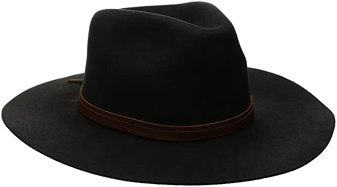 c7f24455c4ae4 Amazon.com: Brixton Men's Drover Fedora, Washed Black, Large: Clothing